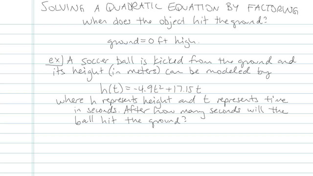Solving Quadratic Equations by Factoring - Problem 22