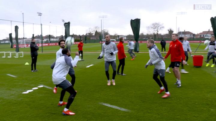 Liverpool stars take on the bin challenge