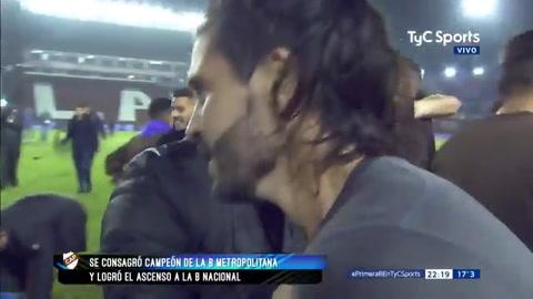 La emoción del Chino Vizcarra que convirtió el gol del ascenso para Platense