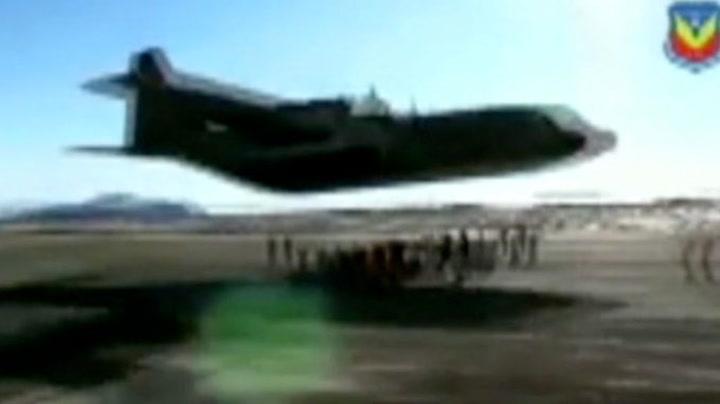 Livsfarlig stunt med Hercules-fly