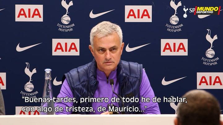 Mourinho habla tras su fichaje por el Tottenham sobre Pochettino