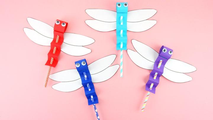 Elemental Dragonfly animal charms Amulet Printed papercraft dragonfly kits 3D papercraft paper art spirit animals animal totems