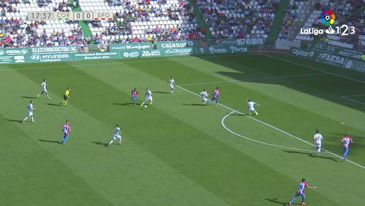 LaLiga 1|2|3: Resumen y Goles del Córdoba (1) - (2) Real Sporting del 17/03/2019 | Vídeo