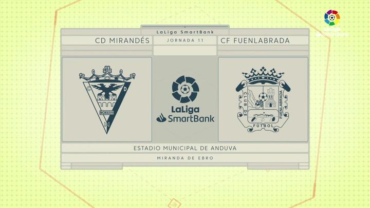 LaLiga SmartBank (J11): Resumen y goles del Mirandés 2-1 Fuenlabrada