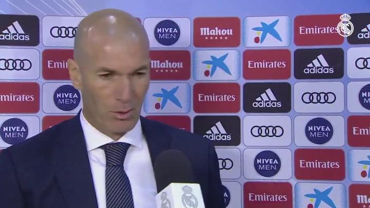 Declaraciones de Zidane tras la victoria ante el Huesca