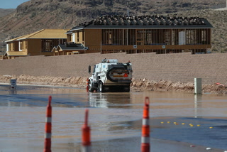 Clean up after flooding in southwest Las Vegas