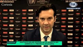 Santiago Solari se quejó de Olimpia por jugadores lesionados en América