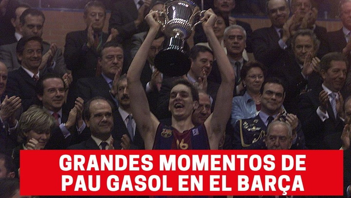 Grandes momentos de Pau Gasol en el Barça