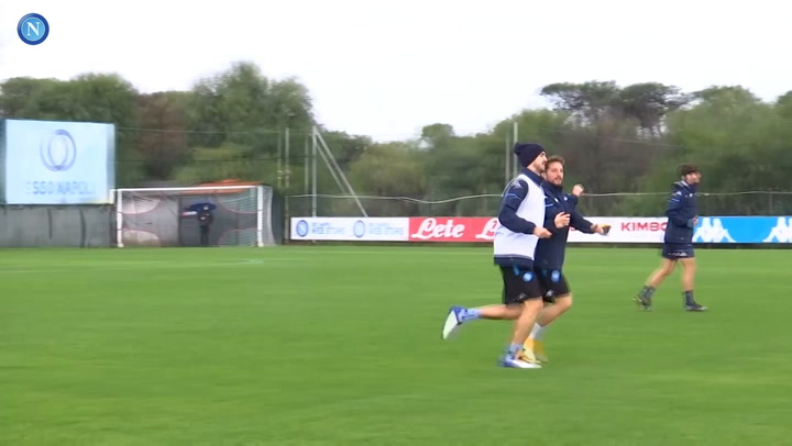 Napoli's last training session ahead of Real Sociedad clash