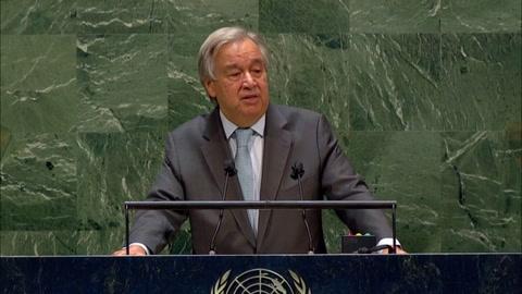 Jefe de ONU abrió Asamblea General con llamado a