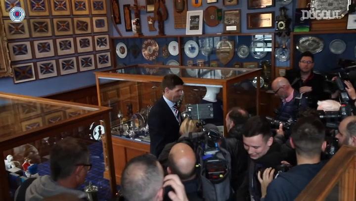 Behind the Scenes: Steven Gerrard's first day as Rangers boss