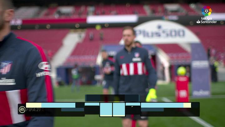 LaLiga (J26): Resumen y goles del Atlético de Madrid 1-1 Real Madrid