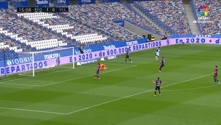 Gol de Isak (2-0) en el Real Sociedad 4-1 Valladolid