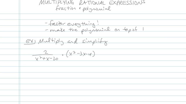 Multiplying and Dividing Rationals - Problem 10
