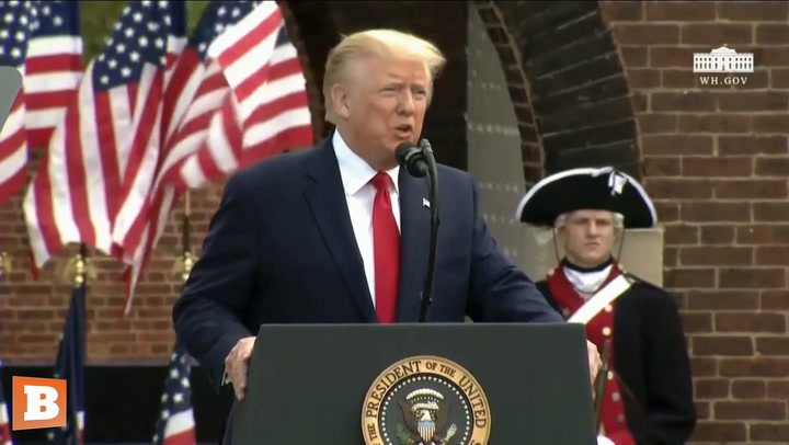Trump Tells Inspiring Story of Twin WWII Fighters and the Meaning of the American Flag