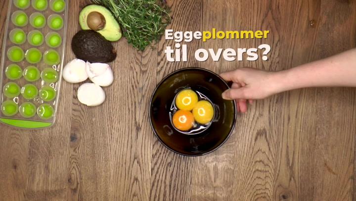 Hvordan spare på eggehvite og eggeplommer