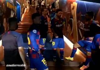 La arenga viral de Lionel Messi en el entretiempo del Barcelona vs Napoli