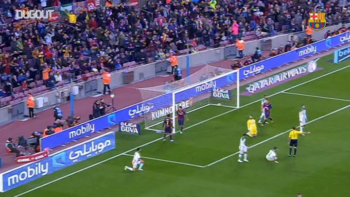 Luis Suárez's first goal for FC Barcelona in LaLiga