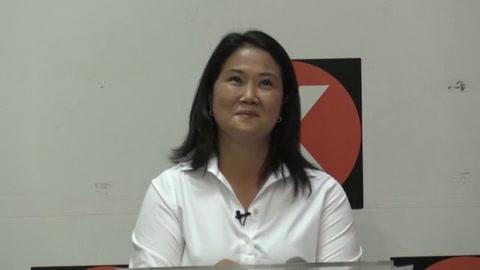 Keiko Fujimori señala a su rival Pedro Castillo de buscar