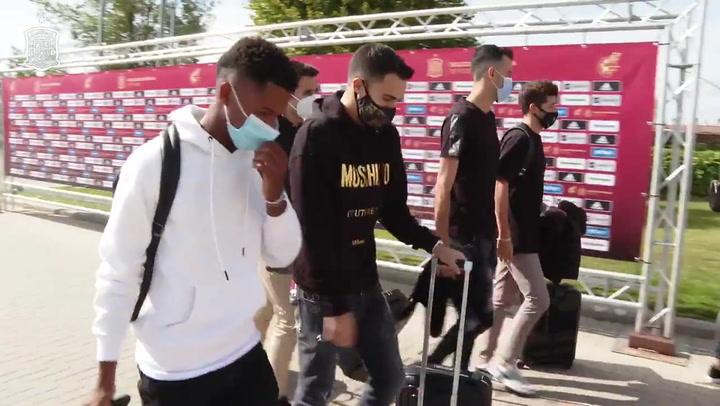 Los internacionales españoles llegan a la concentación de la selección