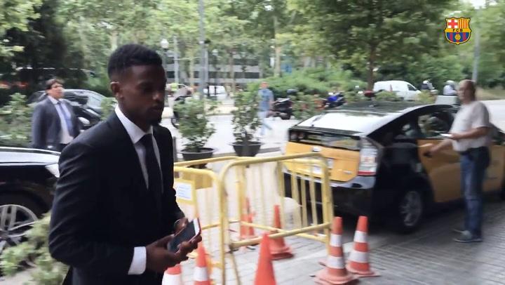 El primer día de Nelson Semedo en el Barça