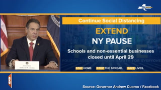 Gov. Andrew Cuomo to Extend 'NY Pause' Until April 29