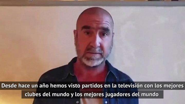 """Cantona: """"Me gustaría decir algo de la Superliga europea"""""""
