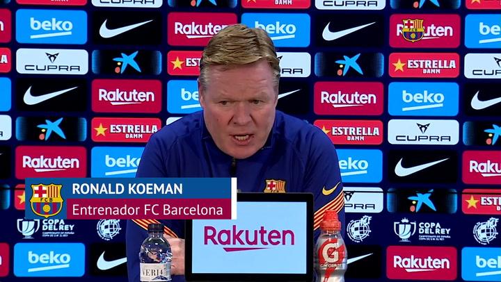 """Koeman, en titulares: """"Estamos en buen camino, Leo está muy metido en este tema"""""""