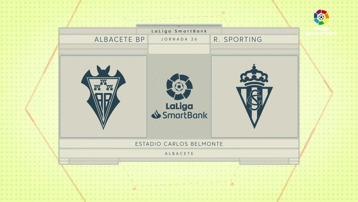 LaLiga SmartBank (J26): Resumen y gol del Albacete 0-1 Sporting