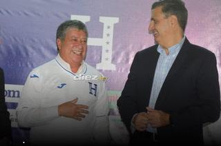 Bolillo Gómez en su presentación con Honduras: