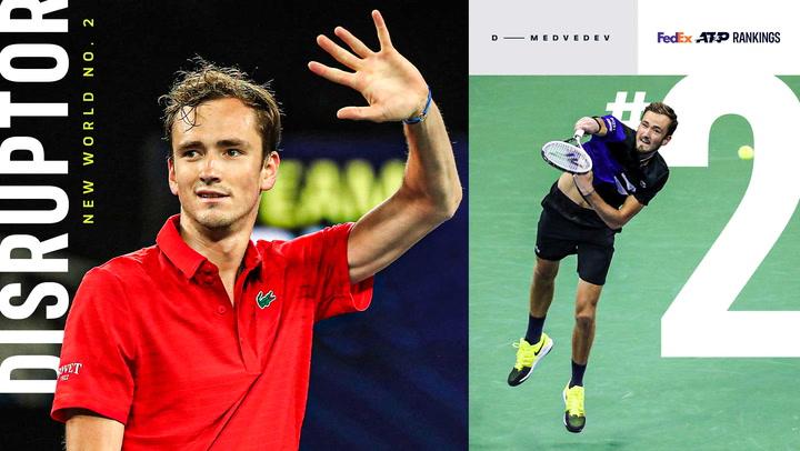15 años y 7 meses después, habrá un número 2 del mundo en el tenis que no se llama Djokovic, Nadal, Federer o Murray