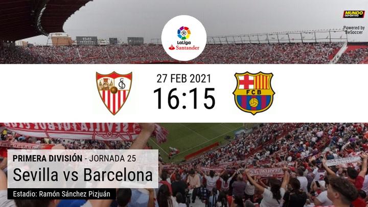 Los datos de los últimos enfrentamientos Sevilla-Barça