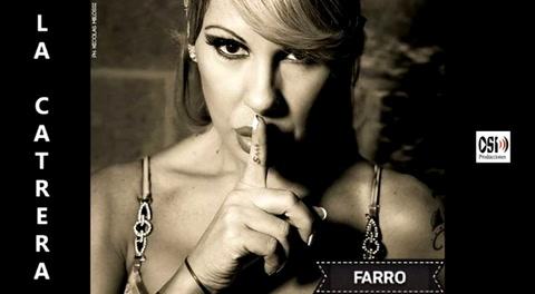 Mónica Farro debutó como cantante con el tema La catrera
