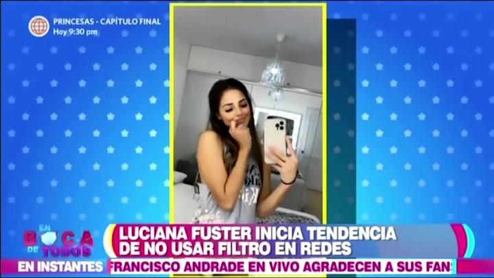 Luciana Fuster asegura que dejará de usar filtros en Instagram