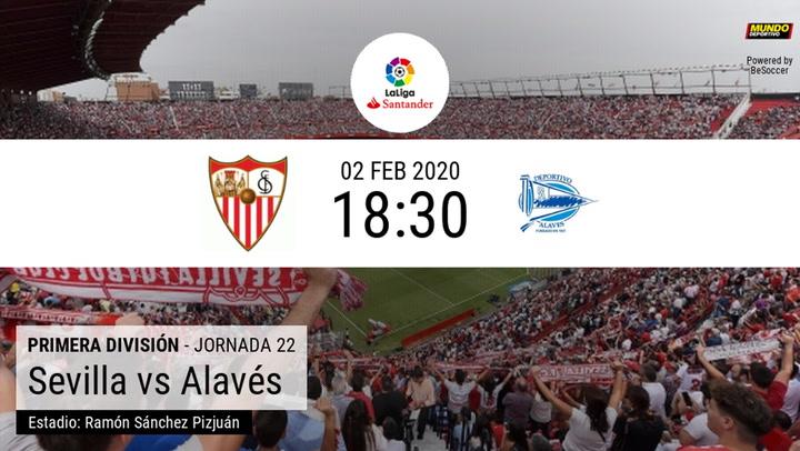 Las estadísticas de la previa del Sevilla - Alavés