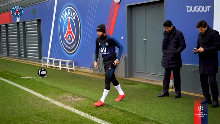 Paris Saint-Germain's last training session before Dortmund clash