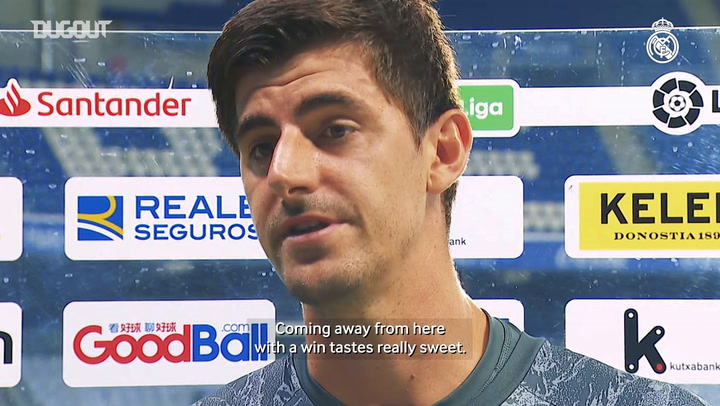 Courtois: 'The key thing today was to get the win'
