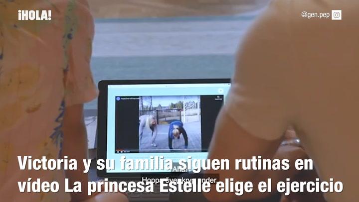 Deporte en casa con los príncipes de Suecia
