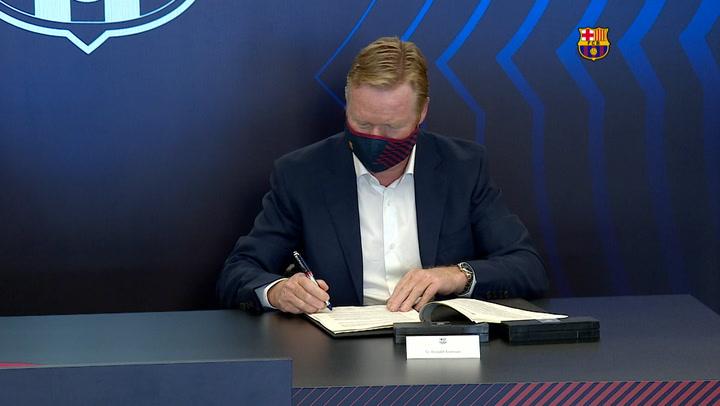 Así ha sido el primer día de Koeman como nuevo entrenador del Barça