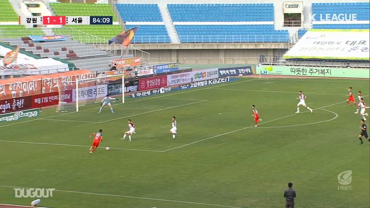 Cho Jae-wan's magical backheel goal against FC Seoul