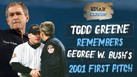 Former Yankee Todd Greene remembers catching George W. Bush's first pitch during 2001 World Series