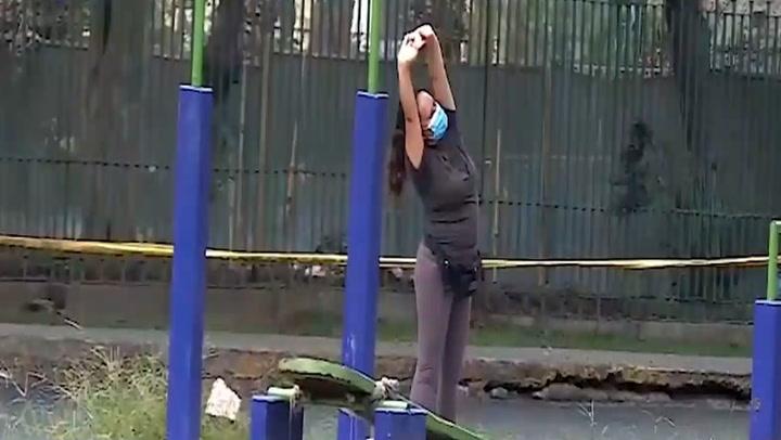 Personas hicieron deporte en las calles pese a estar prohibido los días domingo