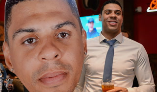 Ryan Reaves visits tavern to launch his beer brand