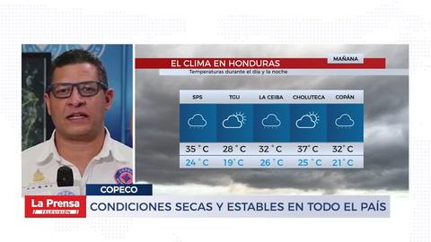 Condiciones secas y estables en todo el país