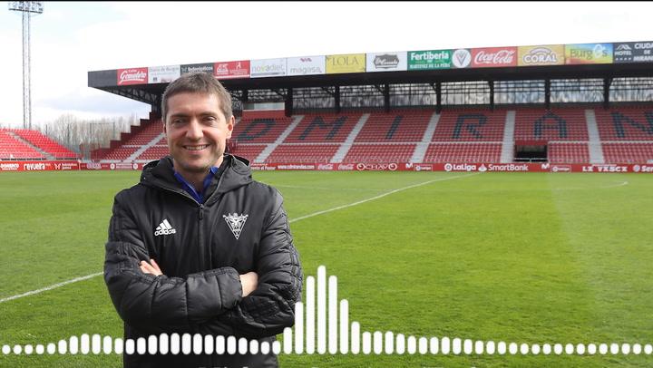 Unai Mendia, segundo entrenador del Mirandés, habla en la previa de la Copa