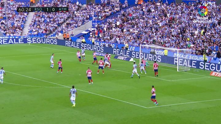 Oblak fue sustituido tras llevarse un balonazo en el segundo gol