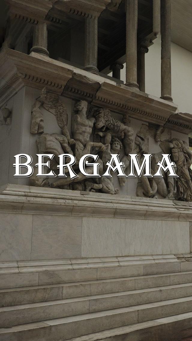 Bergama'nın haritasını çizebilir misin?