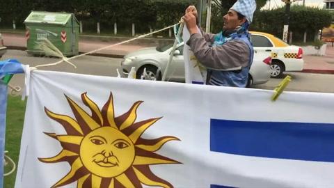 Uruguayos confían en su selección antes de enfrentar a Francia
