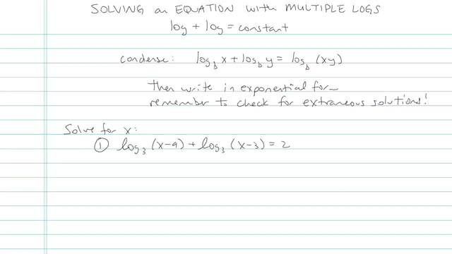 Solving a Logarithmic Equation with Multiple Logs - Problem 5