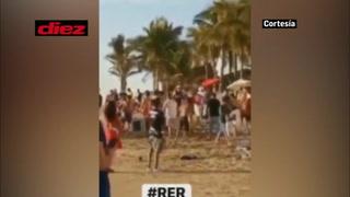 Barristas de Chivas se pelean en playa y son detenidos por la Policía antes del juego ante Mazatlán